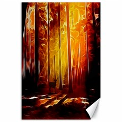 Artistic Effect Fractal Forest Background Canvas 24  X 36  by Simbadda