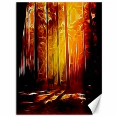 Artistic Effect Fractal Forest Background Canvas 36  X 48   by Simbadda