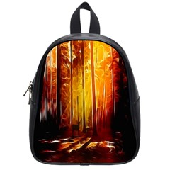 Artistic Effect Fractal Forest Background School Bags (small)