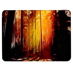 Artistic Effect Fractal Forest Background Samsung Galaxy Tab 7  P1000 Flip Case by Simbadda