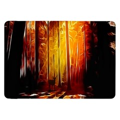 Artistic Effect Fractal Forest Background Samsung Galaxy Tab 8 9  P7300 Flip Case by Simbadda