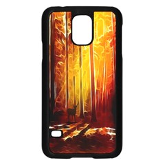 Artistic Effect Fractal Forest Background Samsung Galaxy S5 Case (black)