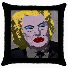 Happy Birthday Mr  President  Throw Pillow Case (black)