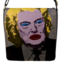 Happy Birthday Mr  President  Flap Messenger Bag (s) by Valentinaart