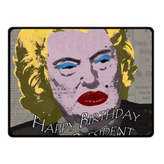 Happy Birthday Mr  President  Double Sided Fleece Blanket (small)  by Valentinaart