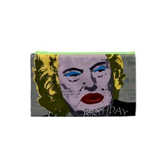 Happy Birthday Mr  President  Cosmetic Bag (xs) by Valentinaart