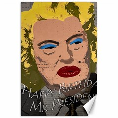 Happy Birthday Mr  President  Canvas 24  X 36  by Valentinaart