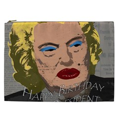 Happy Birthday Mr  President  Cosmetic Bag (xxl)  by Valentinaart