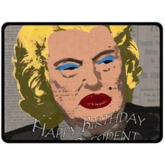 Happy Birthday Mr  President  Double Sided Fleece Blanket (large)  by Valentinaart