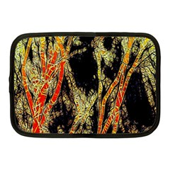 Artistic Effect Fractal Forest Background Netbook Case (medium)  by Simbadda
