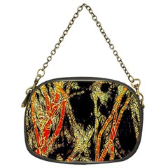 Artistic Effect Fractal Forest Background Chain Purses (one Side)