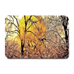 Summer Sun Set Fractal Forest Background Plate Mats by Simbadda