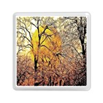 Summer Sun Set Fractal Forest Background Memory Card Reader (Square)  Front