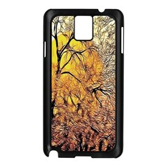 Summer Sun Set Fractal Forest Background Samsung Galaxy Note 3 N9005 Case (black)