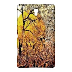 Summer Sun Set Fractal Forest Background Samsung Galaxy Tab S (8 4 ) Hardshell Case