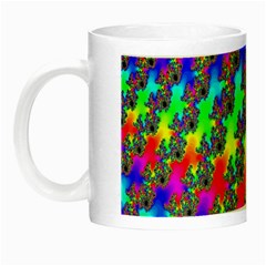 Digital Rainbow Fractal Night Luminous Mugs by Simbadda