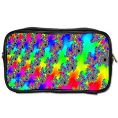Digital Rainbow Fractal Toiletries Bags