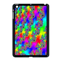 Digital Rainbow Fractal Apple Ipad Mini Case (black) by Simbadda