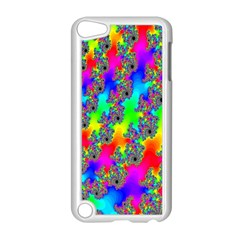 Digital Rainbow Fractal Apple Ipod Touch 5 Case (white) by Simbadda