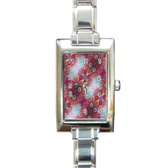Floral Flower Wallpaper Created From Coloring Book Colorful Background Rectangle Italian Charm Watch
