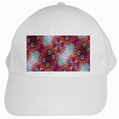 Floral Flower Wallpaper Created From Coloring Book Colorful Background White Cap by Simbadda