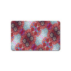 Floral Flower Wallpaper Created From Coloring Book Colorful Background Magnet (name Card)