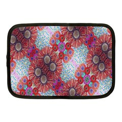 Floral Flower Wallpaper Created From Coloring Book Colorful Background Netbook Case (medium)  by Simbadda