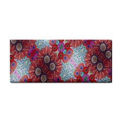 Floral Flower Wallpaper Created From Coloring Book Colorful Background Cosmetic Storage Cases by Simbadda