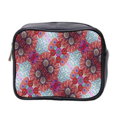 Floral Flower Wallpaper Created From Coloring Book Colorful Background Mini Toiletries Bag 2 Side by Simbadda