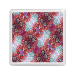 Floral Flower Wallpaper Created From Coloring Book Colorful Background Memory Card Reader (square)