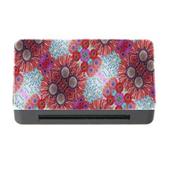 Floral Flower Wallpaper Created From Coloring Book Colorful Background Memory Card Reader With Cf
