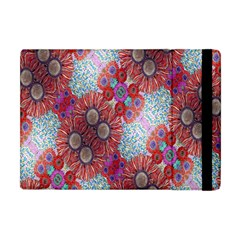 Floral Flower Wallpaper Created From Coloring Book Colorful Background Apple Ipad Mini Flip Case by Simbadda