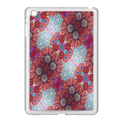 Floral Flower Wallpaper Created From Coloring Book Colorful Background Apple Ipad Mini Case (white)