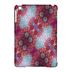 Floral Flower Wallpaper Created From Coloring Book Colorful Background Apple Ipad Mini Hardshell Case (compatible With Smart Cover) by Simbadda