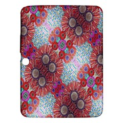 Floral Flower Wallpaper Created From Coloring Book Colorful Background Samsung Galaxy Tab 3 (10 1 ) P5200 Hardshell Case