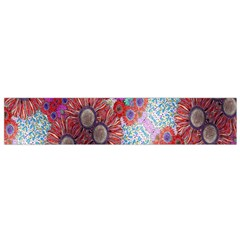 Floral Flower Wallpaper Created From Coloring Book Colorful Background Flano Scarf (small) by Simbadda