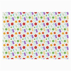 Decorative Spring Flower Pattern Large Glasses Cloth (2 Side) by TastefulDesigns