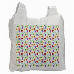 Decorative Spring Flower Pattern Recycle Bag (two Side)  by TastefulDesigns