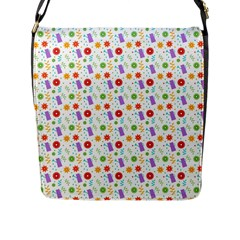 Decorative Spring Flower Pattern Flap Messenger Bag (l)  by TastefulDesigns