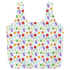 Decorative Spring Flower Pattern Full Print Recycle Bags (l)