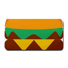 Hamburger Bread Food Cheese Medium Bar Mats by Simbadda