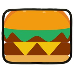 Hamburger Bread Food Cheese Netbook Case (xl)  by Simbadda