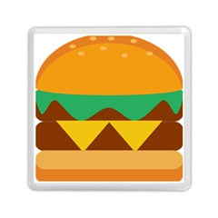 Hamburger Bread Food Cheese Memory Card Reader (square)  by Simbadda