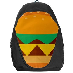 Hamburger Bread Food Cheese Backpack Bag by Simbadda