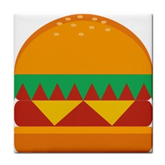 Burger Bread Food Cheese Vegetable Tile Coasters