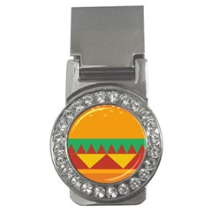 Burger Bread Food Cheese Vegetable Money Clips (cz)  by Simbadda