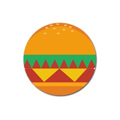 Burger Bread Food Cheese Vegetable Magnet 3  (round)