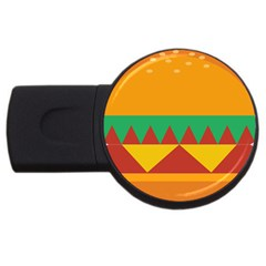Burger Bread Food Cheese Vegetable Usb Flash Drive Round (4 Gb)