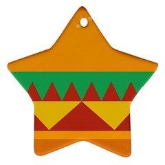 Burger Bread Food Cheese Vegetable Star Ornament (two Sides) by Simbadda
