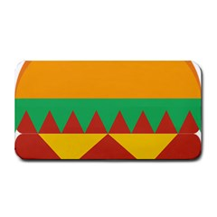 Burger Bread Food Cheese Vegetable Medium Bar Mats by Simbadda